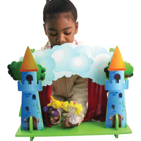 Maxim Wooden Puppet Theater Play Set with Interchangeable Scenery - Peazz.com