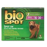 Bio Spot Spot On F/T Dog 16-30 lbs 3 Month - Peazz.com