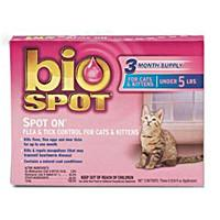 Bio Spot Spot On F/T Cats/Kittens Under 5 lbs 3 Month - Peazz.com