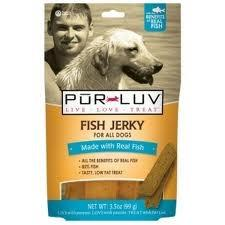 Pur Luv Fish Jerky Dog Treat, 3.5 oz - Peazz.com