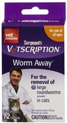 Sergeant's Vetscription Worm-Away For Cats, 12 Capsules - Peazz.com
