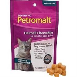 Sentry HC Petromalt Hairball Chewables - Salmon, 2.5 oz - Peazz.com