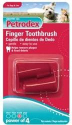Petrodex Finger Toothbrush Dog & Cat, 2 Count - Peazz.com