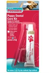 Petrodex Puppy Dental Care Kit, Poultry Toothpaste, 2 Toothbrushes - Peazz.com