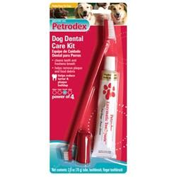 Petrodex Dental Care Kit Dog Poultry Toothpaste, 2 Toothbrushes - Peazz.com