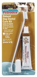 Petrodex Natural Dog Dental Care Kit, Peanut Toothpaste With 2 Toothbrushes - Peazz.com