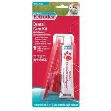 Petrodex Cat Dental Care Kit, Malt Toothpaste With 2 Toothbrushes - Peazz.com