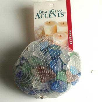2 Quantity of Beach Glass 1lb Bag Assorted Colors