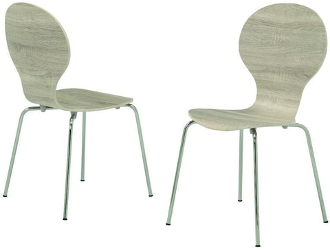 "Monarch Specialties I 1050 Natural Reclaimed-Look Bentwood 34""H Dining Chairs / 4Pcs - Peazz.com"