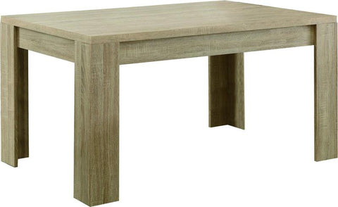 "Monarch Specialties I 1054 Natural Reclaimed-Look 36""X 60"" Dining Table - Peazz.com"