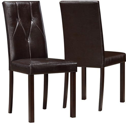 "Monarch Specialties I 1181 Dark Brown Leather-Look 38""H Dining Chair / 2Pcs Per Ctn - Peazz.com"
