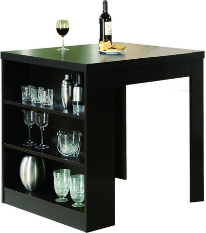 "Monarch Specialties I 1344 Cappuccino Hollow-Core 32""X 36"" Counter Height Table - Peazz.com"
