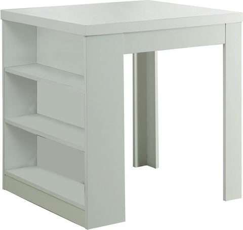 "Monarch Specialties I 1345 White Hollow-Core 32""X 36"" Counter Height Table - Peazz.com"