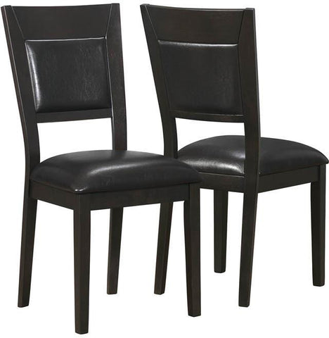 "Monarch Specialties I 1495 Cappuccino / Brown Leather-Look 39""H Side Chair / 2Pcs - Peazz.com"