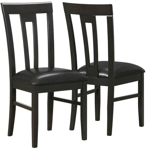 "Monarch Specialties I 1496 Cappuccino / Brown Leather-Look 39""H Side Chair / 2Pcs - Peazz.com"