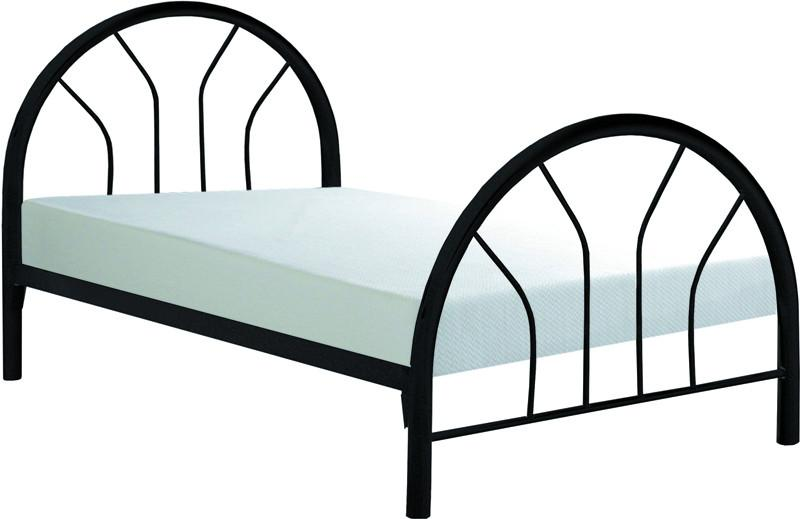 Monarch Specialties I 2389B Black Metal Twin Bed Frame Only