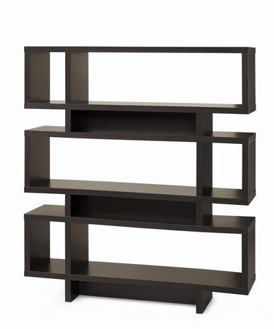 "Monarch Specialties I 2531 Cappuccino Hollow-Core 55""H Modern Bookcase - Peazz.com"