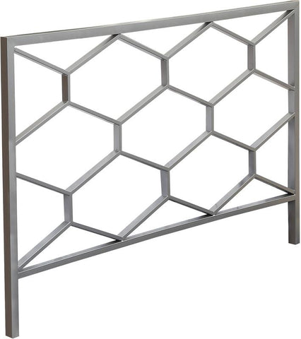 Monarch Specialties I 2626Q Silver Queen / Full Size Combo Headboard / Footboard Only - Peazz.com