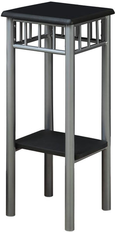 Monarch Specialties I 3094 Black / Silver Metal Plant Stand - Peazz.com