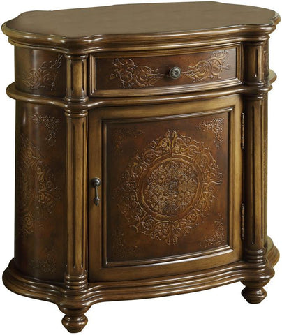 Monarch Specialties I 3825 Light Brown Traditional One Drawer Bombay Cabinet - Peazz.com