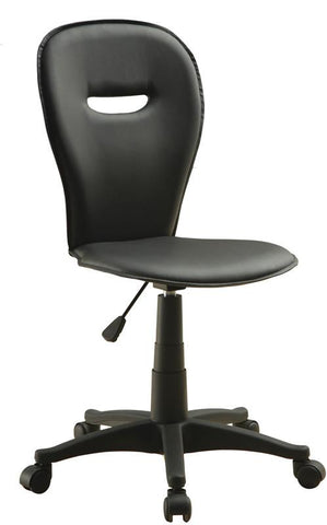 "Monarch Specialties I 4270 Black "" Open Back "" Office Chair - Peazz.com"