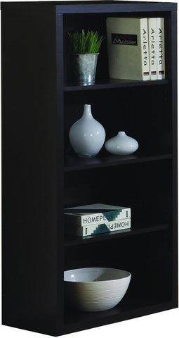 "Monarch Specialties I 7005 Cappuccino 48""H Bookcase With Adjustable Shelves - Peazz.com"
