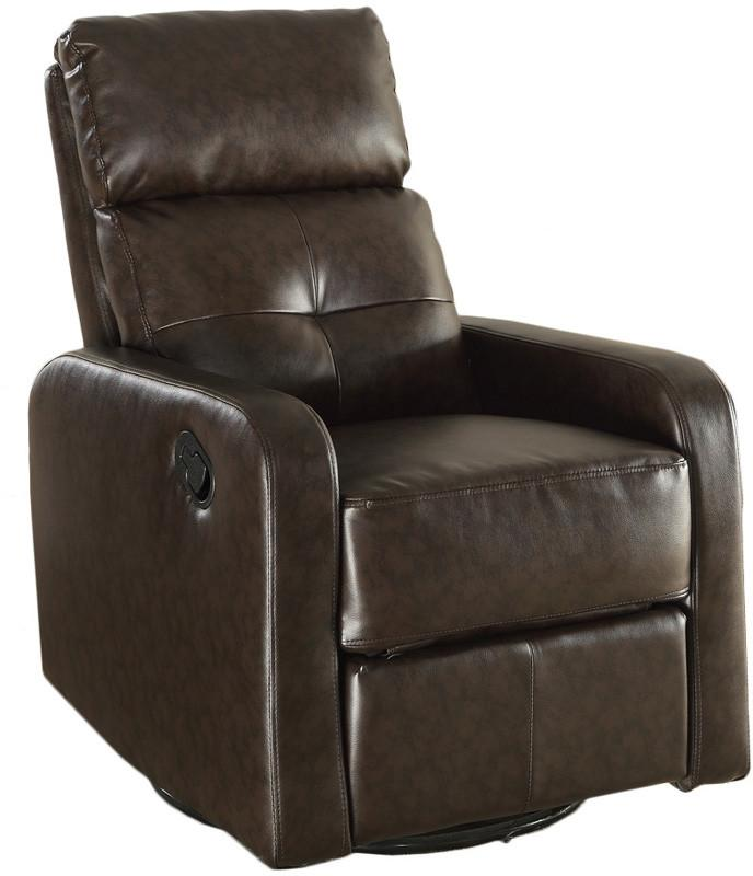 Dark own Bonded Leather Swivel Glider Recliner Br 3981 Product Photo