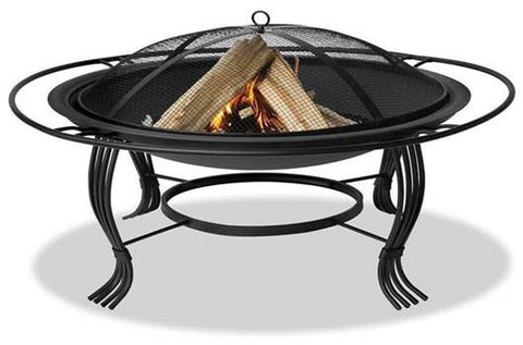 "Fireside Escapes Saturn 30"" Steel Outdoor Fireplace (MW1143) - Peazz.com"