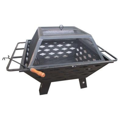 Fireside Escapes Diamond Sides Steel Fire Pit (MW1144) - Peazz.com