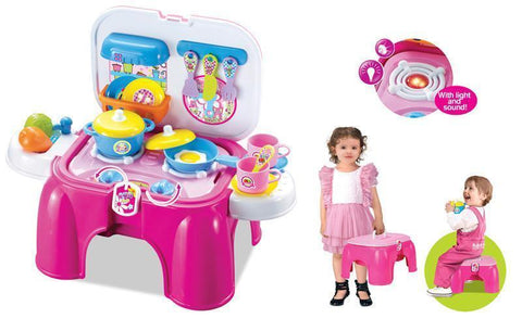 Berry Toys BR008-93 My First Portable Play & Carry Kitchen/Bench Play Set - WarehouseSpot