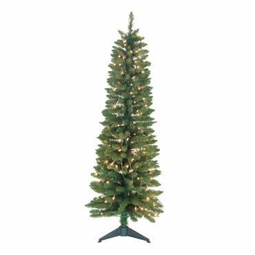 5' Pre-Lit  Pencil Green Tree 236 Tips, 150 UL Lights - WarehouseSpot