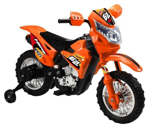 Vroom Rider VR093 Battery Operated 6V Kids Dirt Bike (Orange)