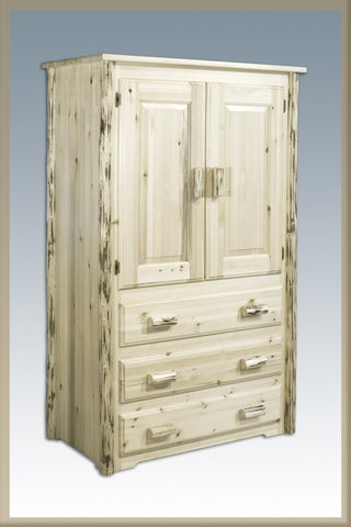Montana Woodworks MWAR Armoire Ready To Finish - Peazz.com