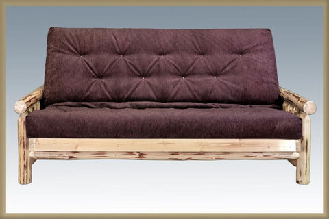Montana Woodworks MWFMNV Futon Frame w/ Mattress Lacquered - Peazz.com