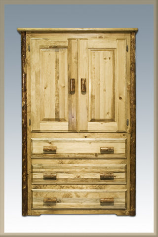 Montana Woodworks MWGCAR Armoire Glacier Country - Peazz.com