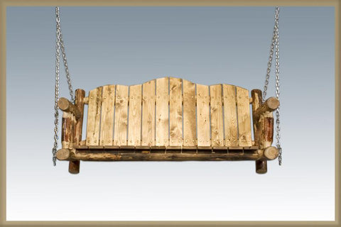 Montana Woodworks MWGCLSC Swing Seat w/ Chains Exterior Glacier Country Finish - Peazz.com