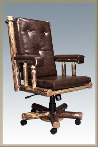 Montana Woodworks MWGCOC Upholstered Office Chair Glacier Country - Peazz.com
