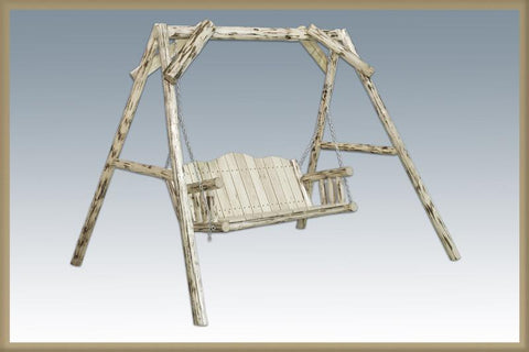 "Montana Woodworks MWLS Lawn Swing w/ ""A"" Frame Ready To Finish - Peazz.com"