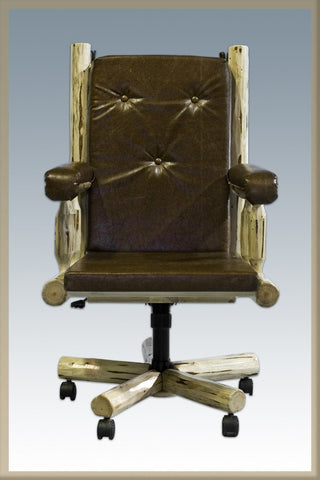 Montana Woodworks MWOCV Upholstered Office Chair Lacquered - Peazz.com