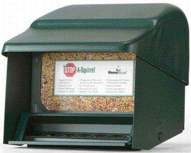 Stop A Squirrel Bird Feeder Green  (3201S) - Peazz.com