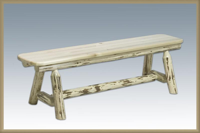 Montana Bench Foot Lacquered Plank