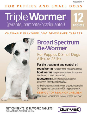 Triple Wormer F-Puppy & Small Dogs 12 Count (011-17612) - Peazz.com