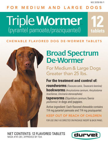 Triple Wormer F-Med & Large Dogs 12 Count (011-17712) - Peazz.com