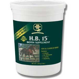 H.B. 15 Biotin Supplement for Horses 3 Lbs (42308) - Peazz.com