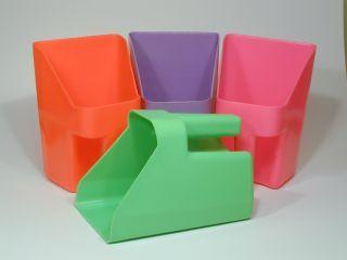 Plastic Scoop Neon Assorted 3 Quart - 12 Pack (290109) - Peazz.com