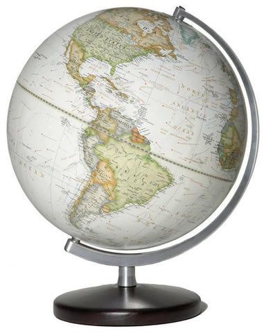 "National Geographic Globes 10 12 16S The Classic - 12"" Diameter Non-Illuminated Parchment Ocean Globe with Table Top Base - Peazz.com"