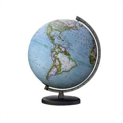 "National Geographic Globes 14 26 17S The Early Explorer - 10.5"" Diameter Non-Illuminated Blue Ocean Globe with Black Base - Peazz.com"