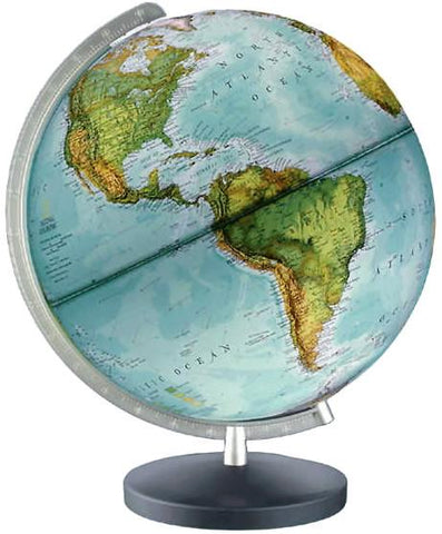 "National Geographic Globes 14 30 41S The Journey - 12"" Diameter Illuminated Globe with Black and Gray Table Top Base - Peazz.com"
