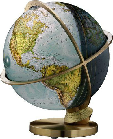 "National Geographic Globes 14 30 72S The Planet Earth - 12"" Diameter Illuminated Blue Ocean Day/Night Globe - Peazz.com"