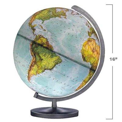 "National Geographic Globes 14 34 41S The Journey - 14"" Diameter Illuminated Globe with Gray Table Top Base - Peazz.com"